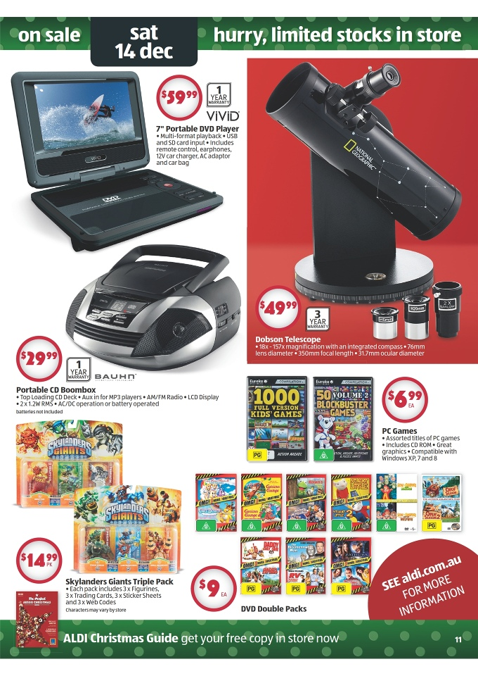 aldi 2013 christmas gifts catalogue page 11. Black Bedroom Furniture Sets. Home Design Ideas