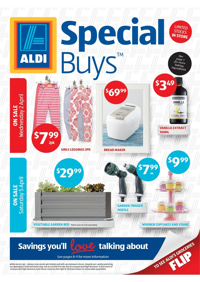 aldi april catalogue offers big range of products. Black Bedroom Furniture Sets. Home Design Ideas