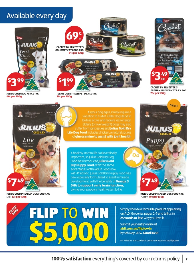 Aldi Catalogue April 2014 Offers Of Food Products Page 23