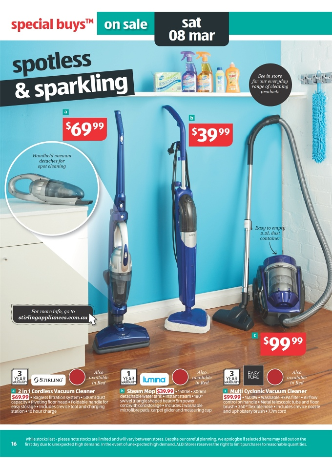 Aldi Catalogue Deals Home Sale And Winter Clothes Page 16