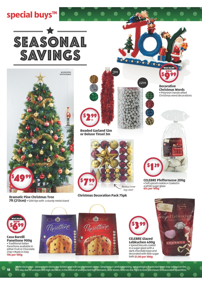 Christmas Decorations At Aldi : Aldi catalogue december christmas page
