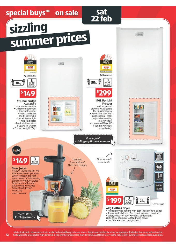 Review Of Aldi Slow Juicer : ALDI Catalogue Easter Offers 2014 Page 12
