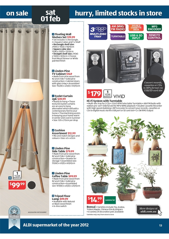 Aldi Catalogue Home Products Sale Page 13