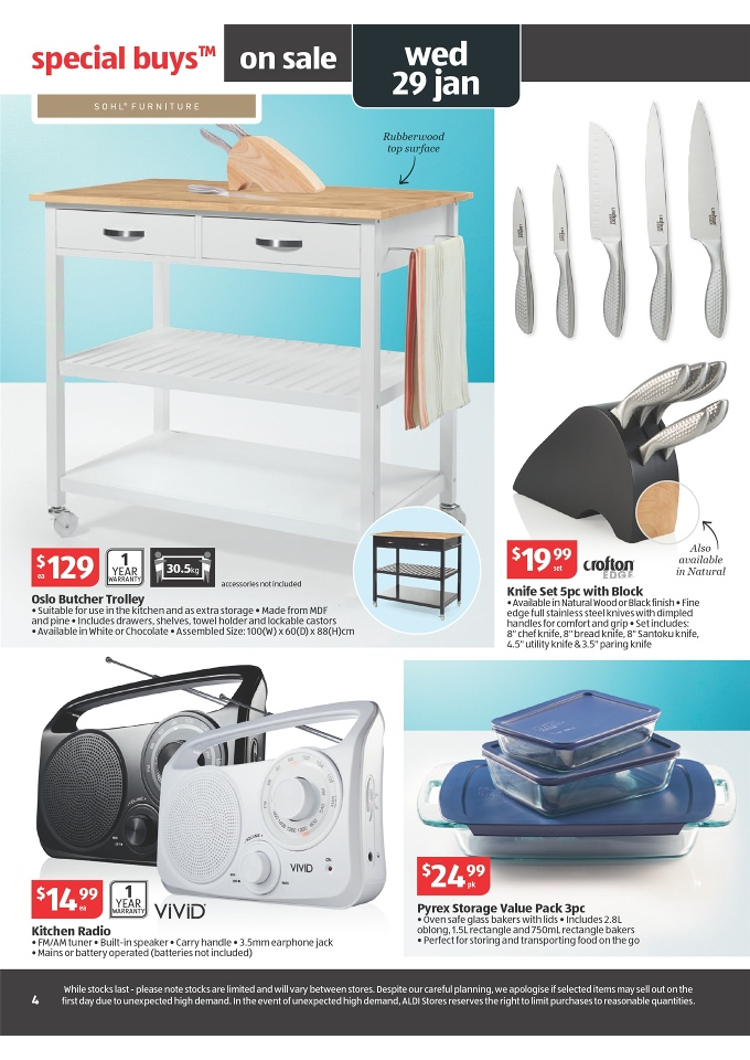 Aldi Kitchen Butcher Trolley : ALDI Catalogue Home Products Sale Page 4