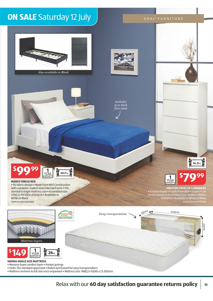 Aldi catalogue home sale july 2014 page 11 for Household furniture catalogue