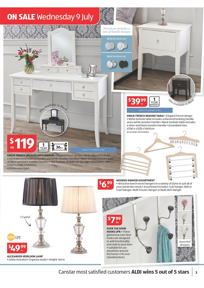 Aldi bedroom furniture 28 images the top 10 best blogs for Affordable furniture catalogue