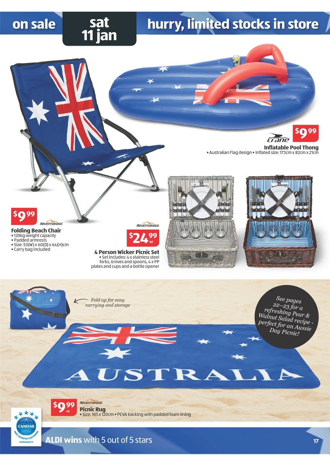 Aldi Picnic Basket Australia : Aldi catalogue school products january page