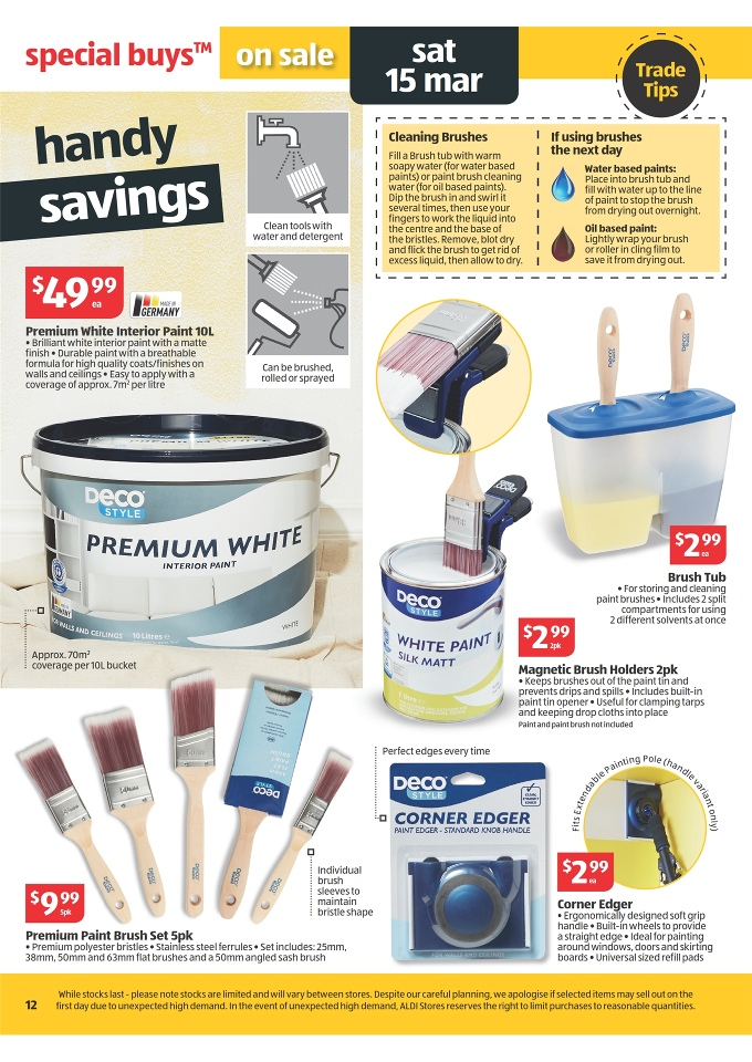 Aldi catalogue winter clothing and power tools page 12 for Catalogue deco