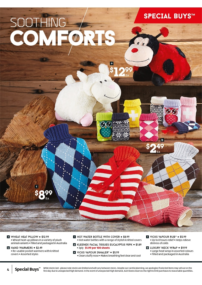 ALDI Catalogue Winter Clothing Review of Products Page 4 Pg.4