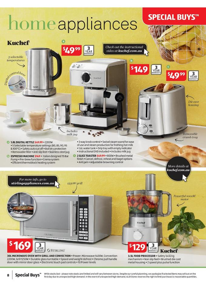Attractive Aldi Kitchen Appliances #1: Aldi Home Appliances October Deals