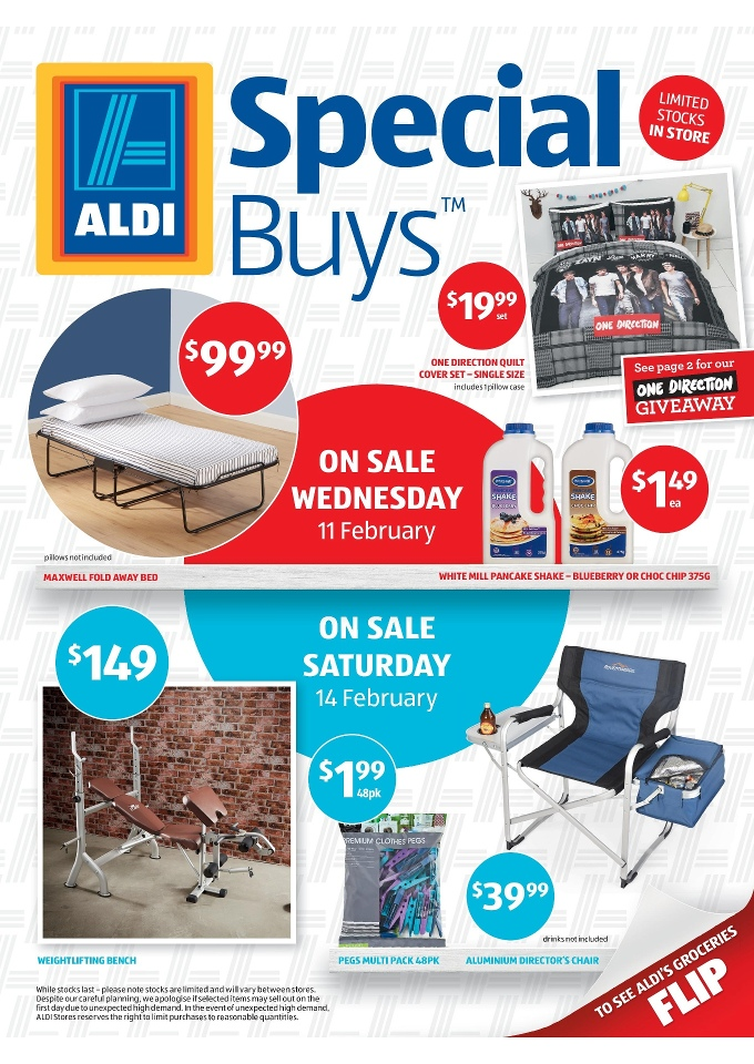 Folding Beds Aldi : Aldi special buys home products catalogue february