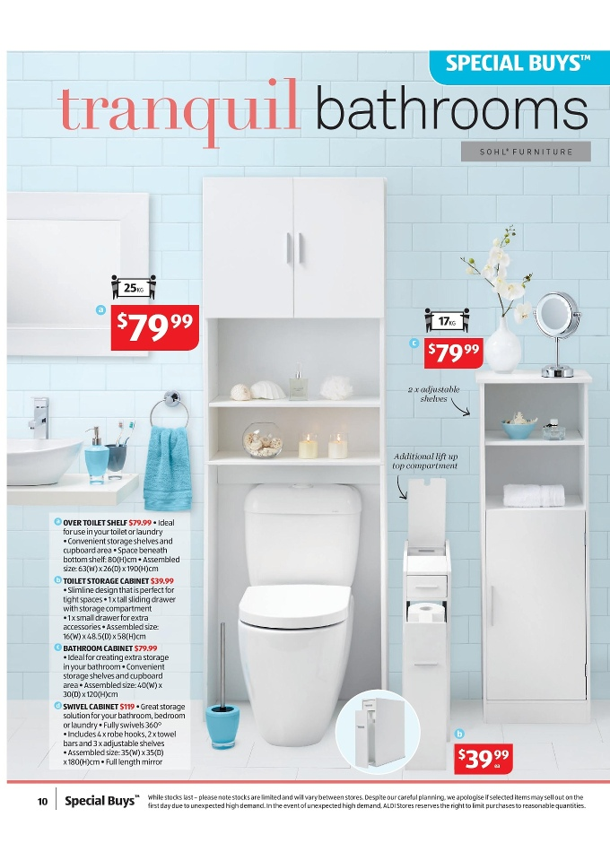 aldi special buys january 2015 sohl toilet storage cabinet sohl over