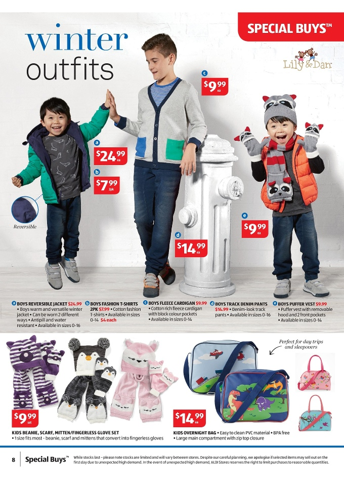 ALDI Special Buys Week 25 Toy Sale and Clothing 2015 lily & dan boys