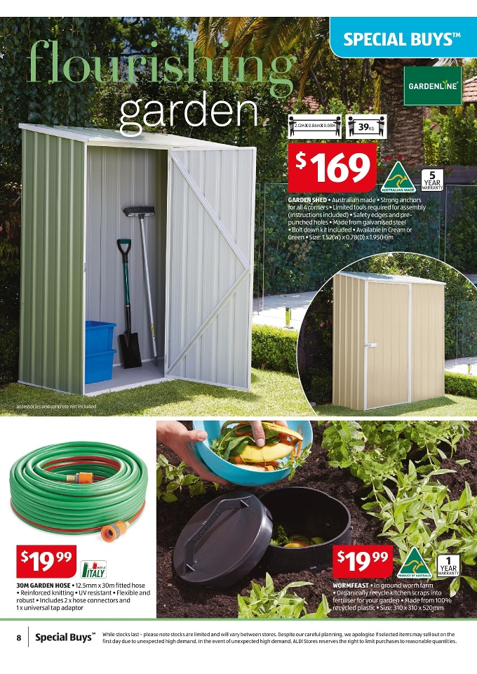 Aldi special buys week 9 february 2015 page 8 for Aldi gardening tools 2015