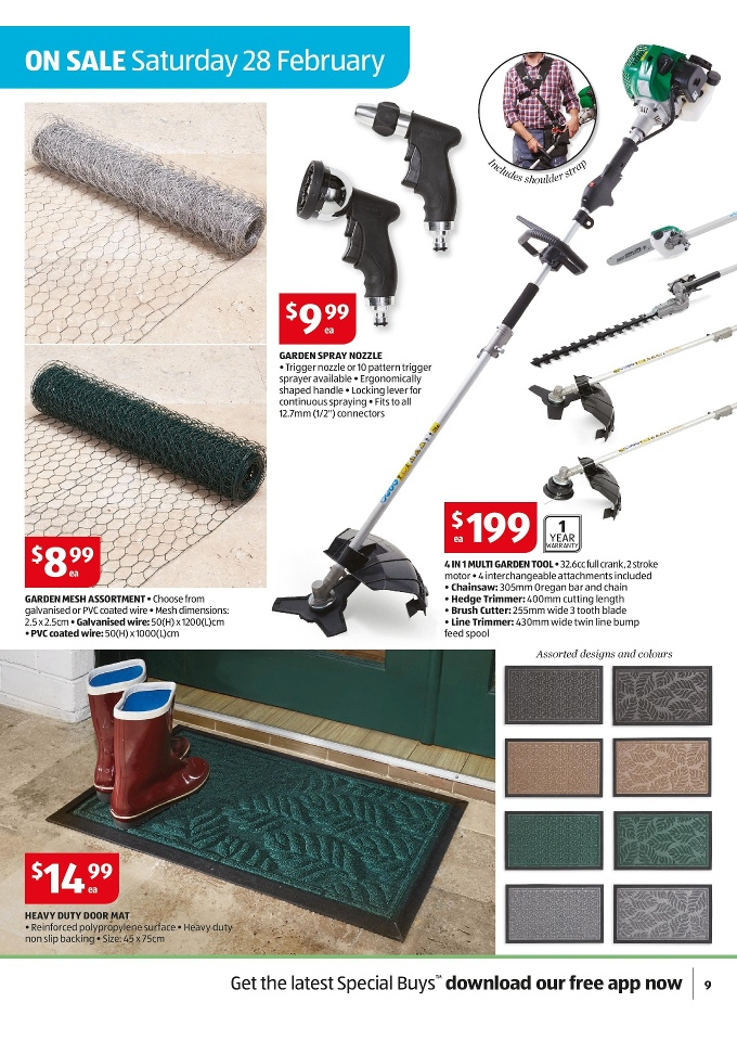 Aldi special buys week 9 february 2015 page 9 for Aldi gardening tools 2015