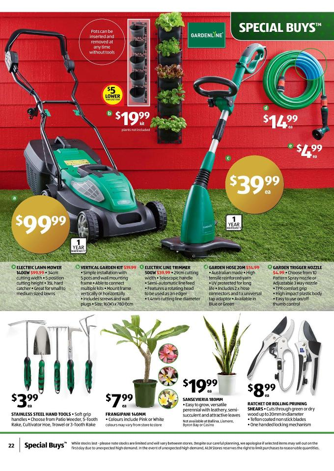Aldi special christmas gifts buys page 22 for Aldi gardening tools 2016