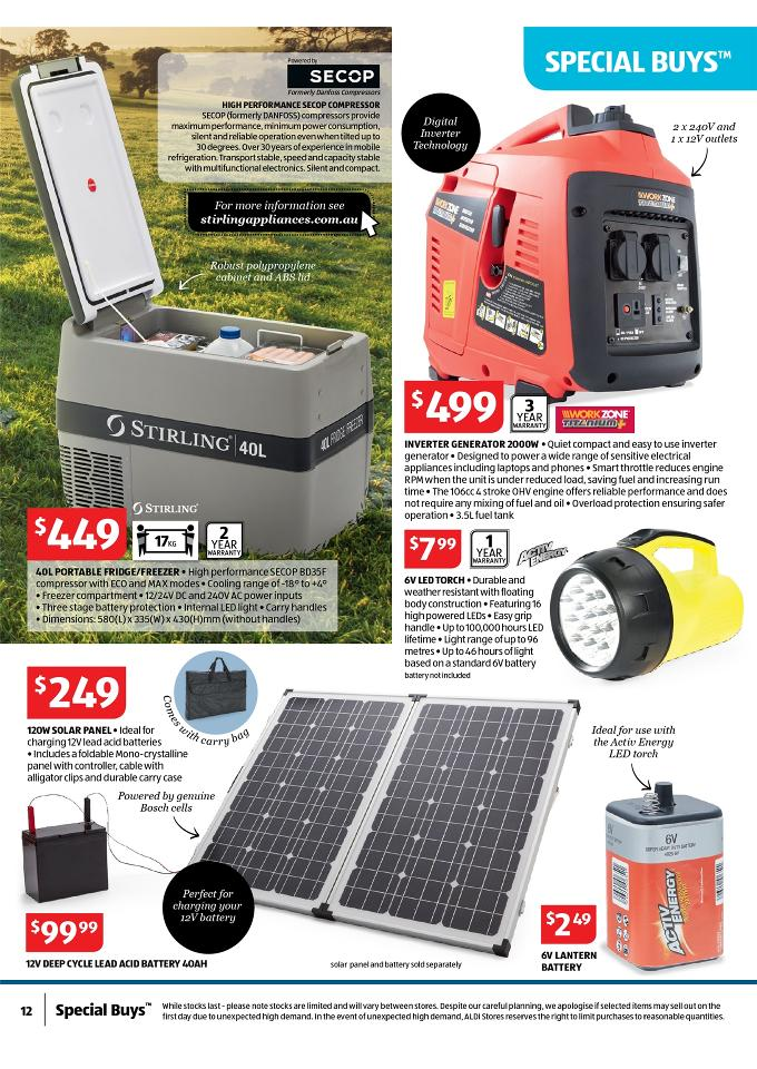 Aldi Special Work Out Offers Catalogue September Page 12