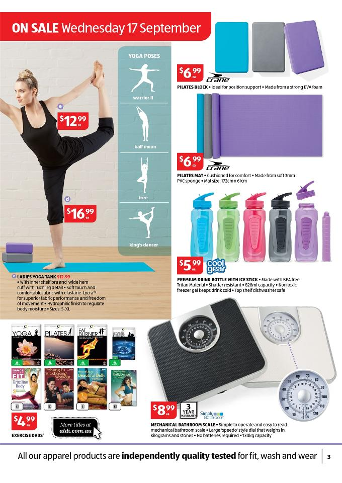 Aldi Special Work Out Offers Catalogue September Page 3