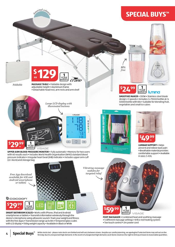 Aldi Special Work Out Offers Catalogue September Page 4