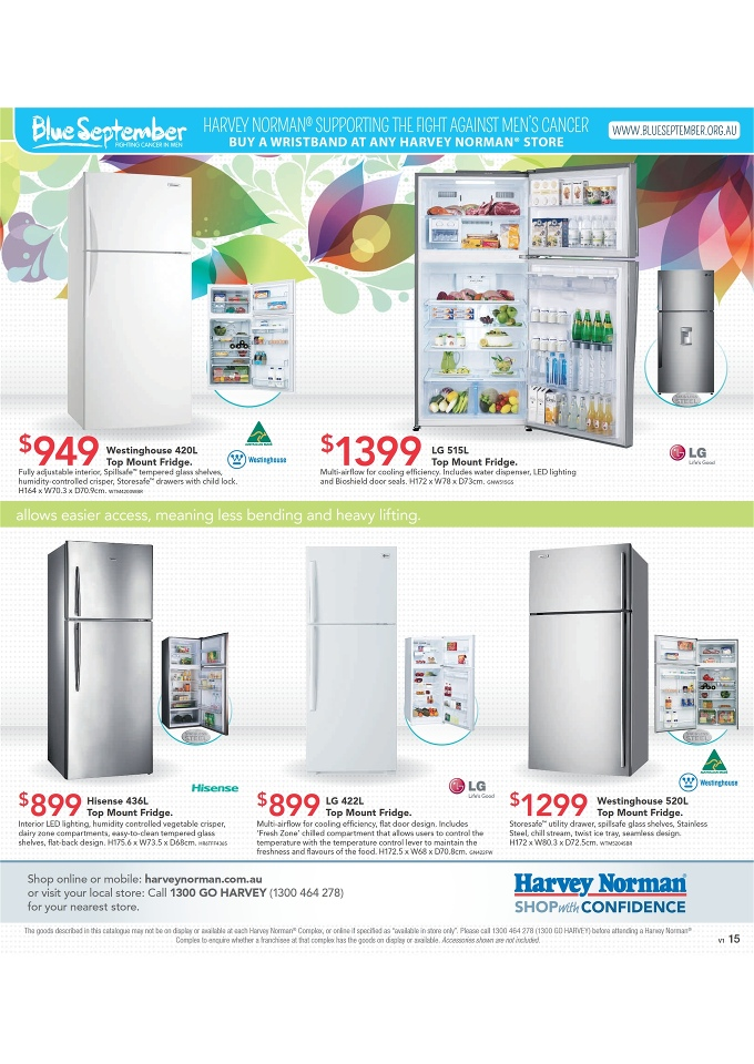 Harvey Norman Home Appliances And September Catalogue Page 15