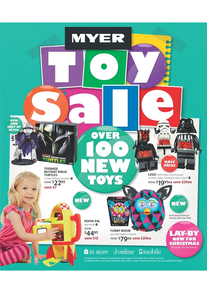 a96a1db41c4 games begin with the assist of Myer Toy Sale Catalogue with 16 pages. You  can lay-by for Christmas at the moment. Online, mobile or see them in store.
