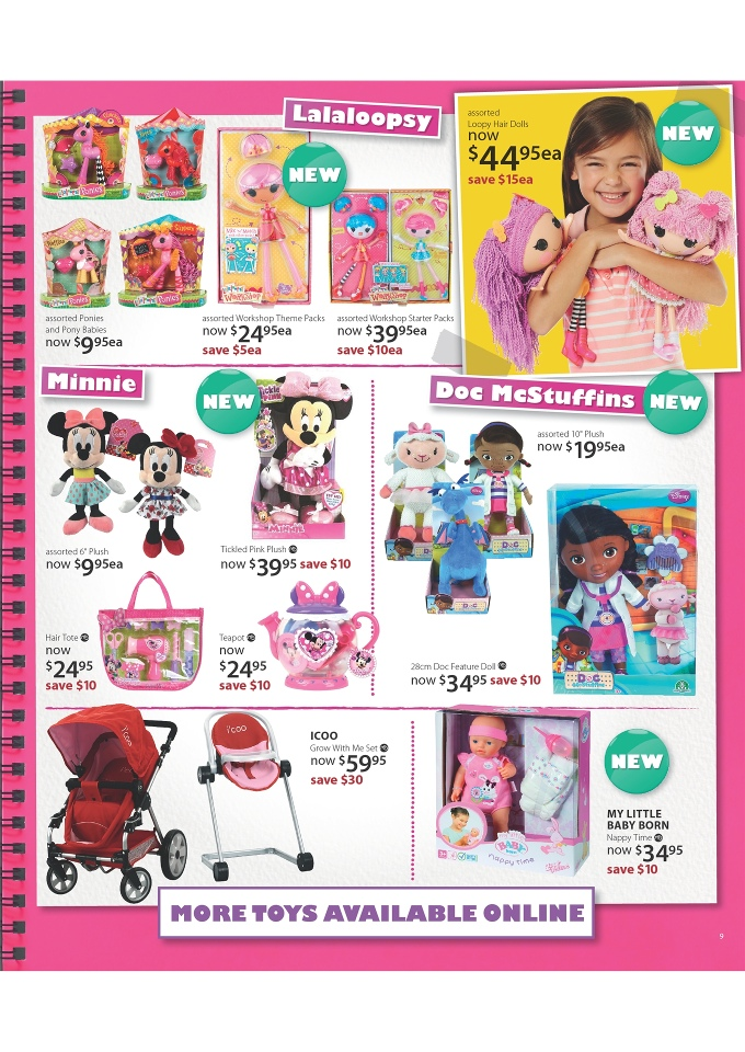 Toy R Us Store Catalog : Myer toy sale catalogue page