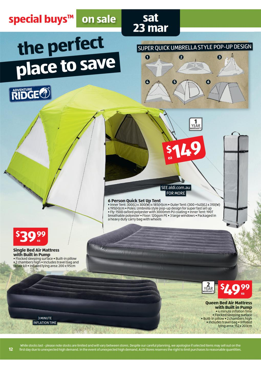 ALDI Catalogue - Special Buys Week 12 2013 queen bed air mattress with built  in pump