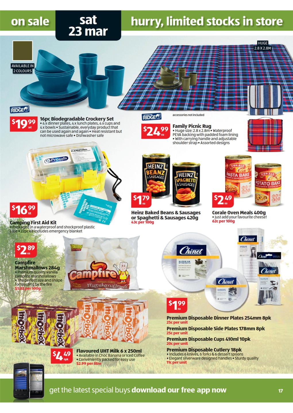 Aldi Picnic Basket Australia : Aldi catalogue special buys week page