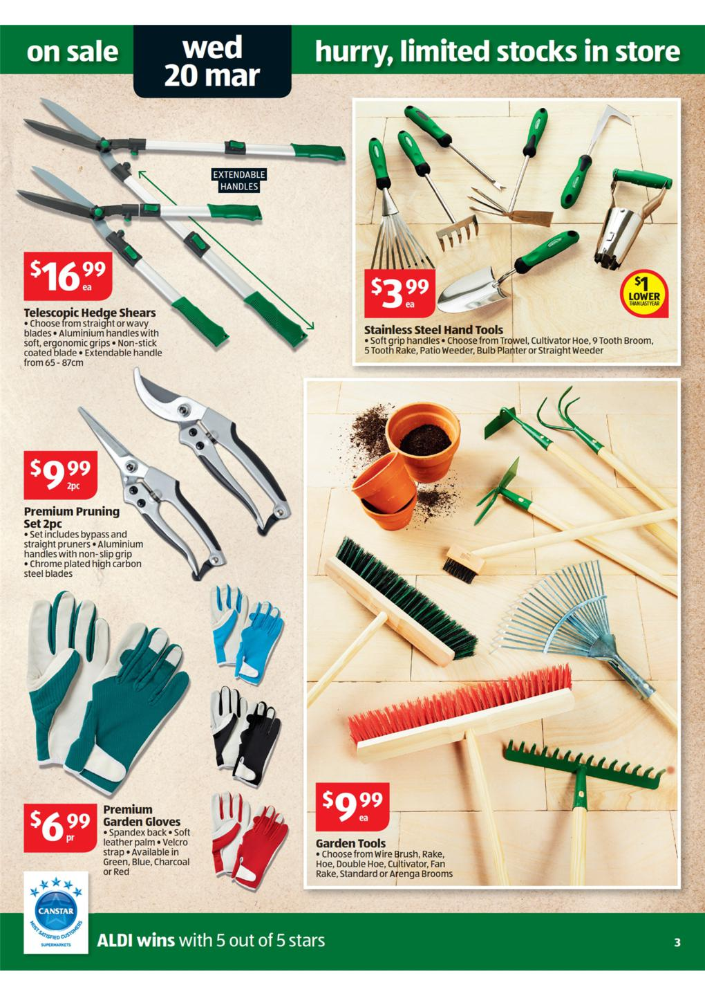 Aldi catalogue special buys week 12 2013 page 3 for Aldi gardening tools 2016