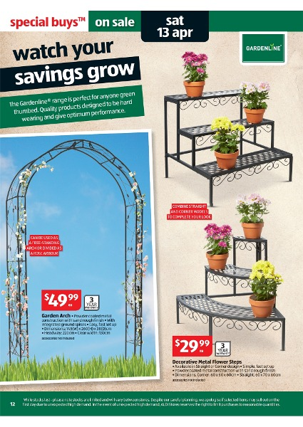 Aldi catalogue special buys week 15 2013 page 12 for Aldi gardening tools 2016