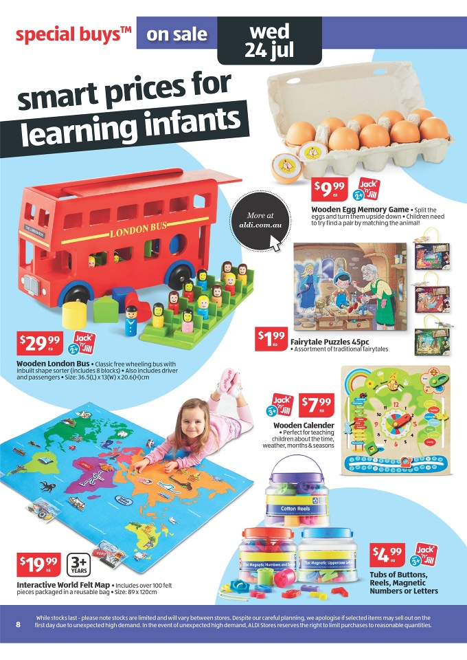 ALDI Catalogue - Special Buys Week 30 2013 jack n jill wooden egg memory game, jack n jill wooden london bus