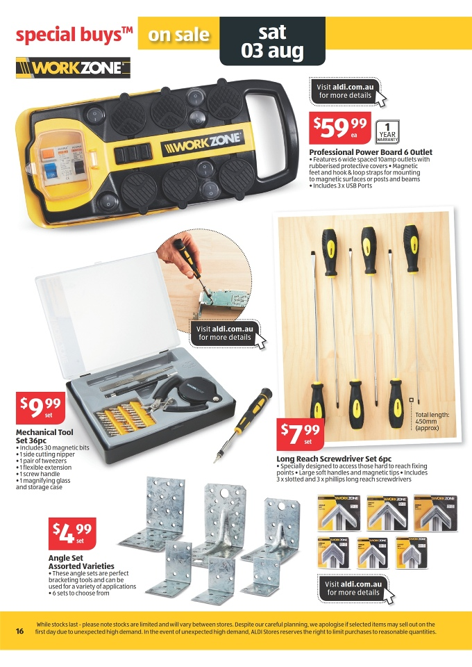 Aldi catalogue special buys week 31 2013 page 16 for Aldi gardening tools 2016