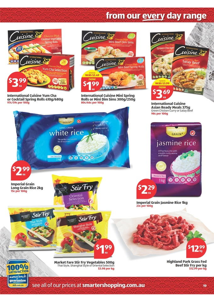 Aldi catalogue special buys week 31 2013 page 19 for Aldi international cuisine