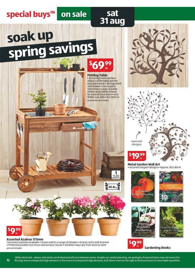 Aldi catalogue special buys week 35 2013 page 12 for Table 52 restaurant week menu 2013