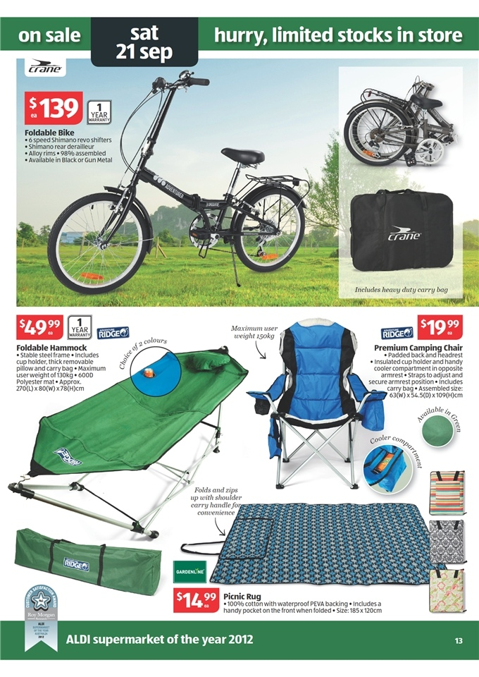 Aldi Catalogue Special Buys Week 38 2013 Page 13