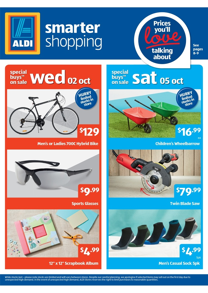 3b62226114c Aldi Specials; Online Catalogue with Bikes and Accessories