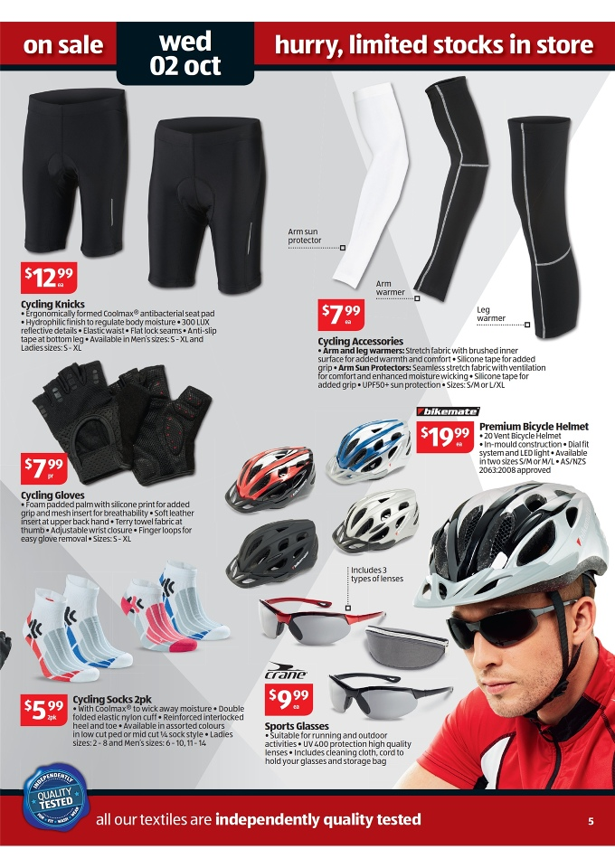 4edf615e57d ALDI Catalogue - Special Buys Week 40 2013 cycling accessories, cycling  knicks