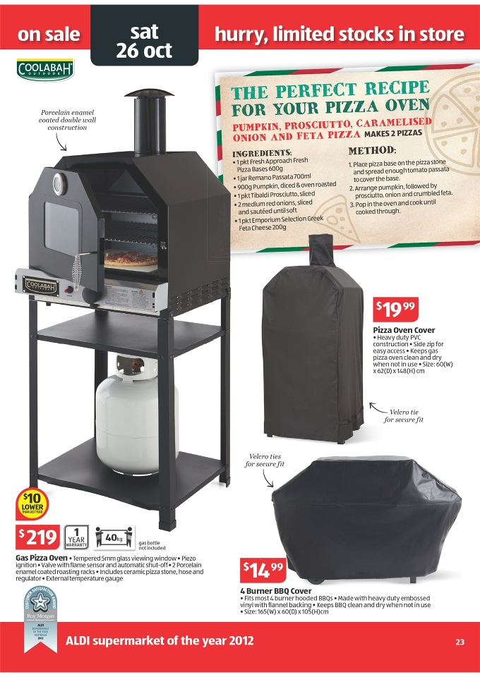 Aldi Pizza Oven.Aldi Catalogue Special Buys Week 43 2013 Page 23
