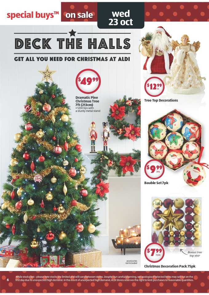 Christmas Decorations At Aldi : Aldi catalogue special buys week page