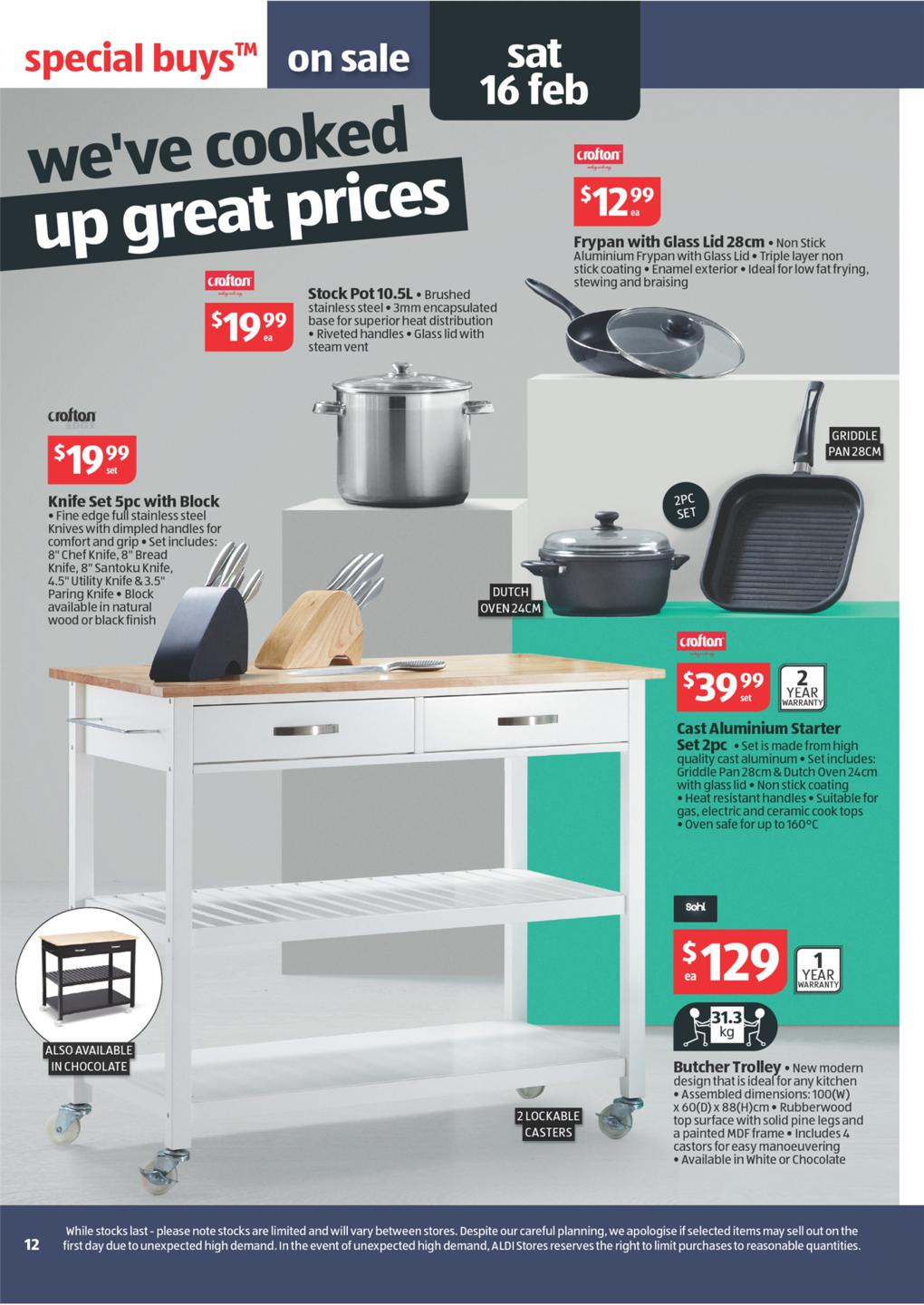 Aldi Kitchen Butcher Trolley : ALDI Catalogue - Special Buys Wk 7 2013 Page 12