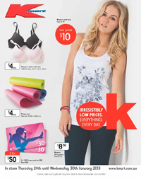 84534369d Kmart Catalogue January 2013 with Clothings and Summer Sale