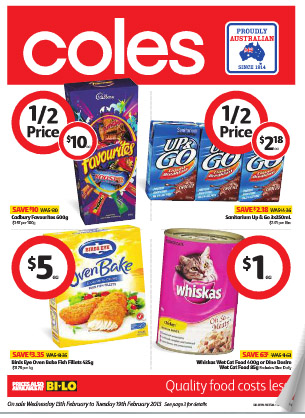 Coles Catalogue February 2013 Campaigns And Reduced Items