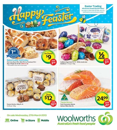 woolworths 27 march 2013