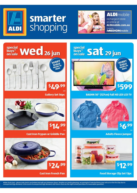 Aldi Kitchen Catalogue In June With Copper Cookware And