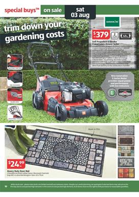Aldi catalogue august offers from gardening and hardwares for Aldi gardening tools 2016