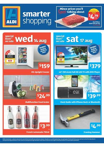 Aldi Catalogue August Sale Electronics and Kitchen Wares