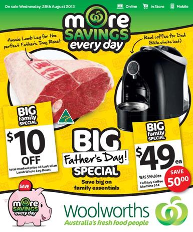 woolworths father's day catalogue