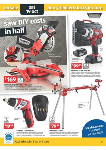 Taurus Titanium And Work Tools By Aldi Special Weeks 42