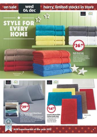 Aldi Christmas Gift Catalogue Bath Sheets and Home Essentials