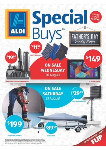 Aldi Catalogue Fathers Day August 2014